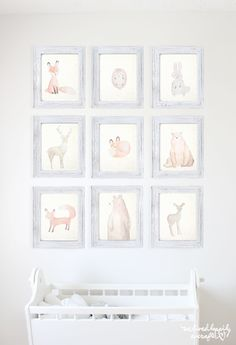Ridiculously Cute Watercolor Forest Animal Printable Set