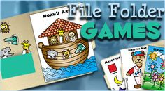 file folder games for kids - this might be more realistic for me than a felt quiet book. Church Activities, Craft Activities For Kids, Toddler Activities, Projects For Kids, Primary Activities, File Folder Activities, File Folder Games, File Folders, Preschool Learning