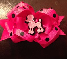 Poodle hair bow