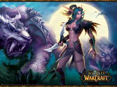 The sexualized female Night Elf from WOW. Used by Blizzard Entertainment in many of their promotional images for the game. #wow #sexualization #fightingfucktoy #femalecharacter #womeninunreasonablearmer