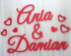 Imiona na ściankę Ania&Damian