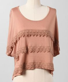 Take a look at this Macaroon Nouveau Romantic Tee by Down East Basics on #zulily today!
