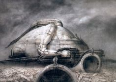 Drawings for Alejandro Jodorowsky's Dune, an unsuccessful attempt from the mid-1970s to adapt Frank Herbert's 1965 classic | The Most Unforgettable Creations of H. R. Giger