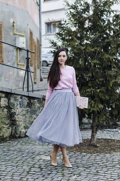 Pink meets gray meets soft.  #pink #tulle #oasap