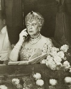 One of my favorite images of dowager Queen Mary. Early 1940s.