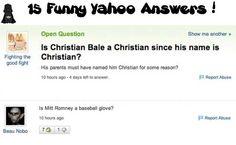 15 Funny Yahoo Answers!