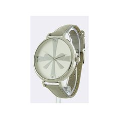 Gray Faux Leather Band Bow Watch