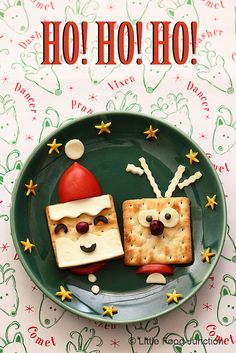 Little Food Junction: Christmas time !! | Find the instructions for making Santa and Rudolph at http://www.littlefoodjunction.com/