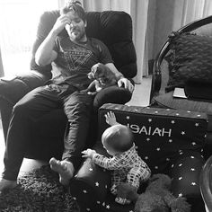 In December, Carrie captured an adorable morning moment between her   7 Ridiculously Cute Pictures of Carrie Underwood's Son, Isaiah Fisher   POPSUGAR Celebrity