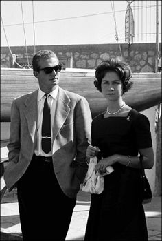 King Juan Carlos of Spain and Queen Sofia of Spain in 1961