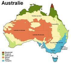 Présentation du climat en Australie et dans différente ville du pays. Vous pouvez trouver une carte du climat en Australie pour découvrir ce dernier.