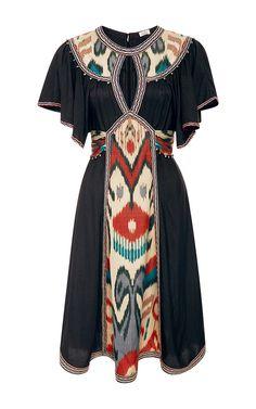 Ikat Keyhole Dress   Talitha