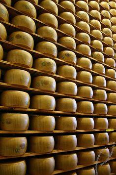 Parmigiano Reggiano ~ invecchiamento nelle grotte fino al perfetto gusto...