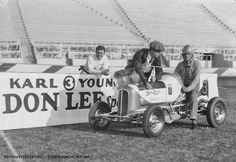 Don Lee Offenhauser Special driven by Carl Young at Gilmore Stadium