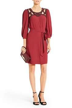 DVF | Intricate cut-outs add interest to the sophisticated Jadey dress. http://on.dvf.com/1ap4HbS