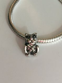 Tibetan Silver Cat European Bead by ADoorableCreations05 on Etsy