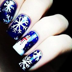 Snowman Cool Winter Nail Art - Easy Winter Nail Art Design www.loveitsomuch.com