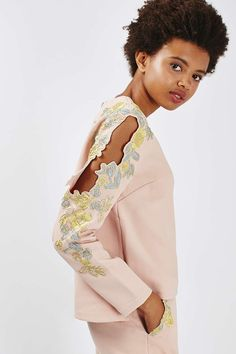 Embroidered Sweat and Trousers - New In This Week - New In - Topshop