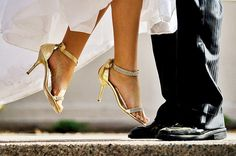 Super cute wedding picture...this defines me and my height so well :)