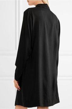 383009cf77 Vivienne Westwood Anglomania - Tondo Cutout Draped Jersey Shirt Dress -  Black