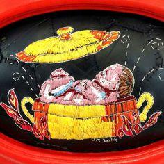 Hannalie Taute via Annie Aube. Lustik: twitter | pinterest | etsy Textiles, Art Textile, Soft Sculpture, Embroidery Art, Fiber Art, Creations, Artwork, Projects, Inspiration