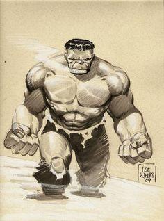 #Hulk #Fan #Art. (Hulk) By: Lee Weeks. (THE * 5 * STÅR * ÅWARD * OF: * AW YEAH, IT'S MAJOR ÅWESOMENESS!!!™) ÅÅÅ+