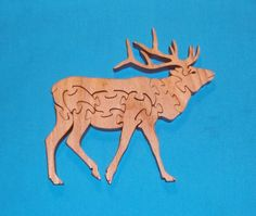 Elk Handmade Wooden Scroll Saw Puzzle