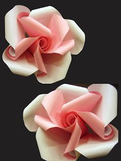 Origami Twirl By Krystyna Burczyk Kirigami, Handmade Flowers, Diy Flowers, Fabric Flowers, Origami Paper Art, Paper Quilling, Paper Crafts, Origami Modular, Origami Folding