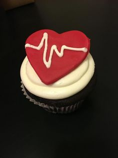 Emergency Chocolate Cupcakes With Cream Cheese Frosting #nurse #ekg #hospital…