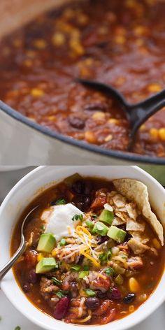 Easy Healthy Recipes, Raw Food Recipes, Mexican Food Recipes, Soup Recipes, Vegetarian Recipes, Cooking Recipes, Healthy Taco Soup, Copykat Recipes, Fudge Recipes