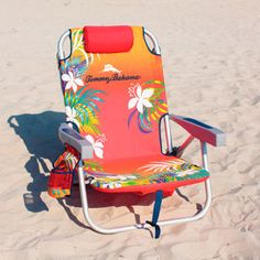 Tommy Bahama 2016 Backpack Cooler Beach Chair (Orange) with Storage Pouch and Towel Bar Plus Carry On Insulated Lunch Pouch: 600 Denier Polyester Fabric Backpack Storage, Backpack Cooler, Ikea Chair Cushions, Camping Outfits For Women, Women Camping, Tommy Bahama Beach Chair, Storage Chair, Camping Furniture, Camping Chair