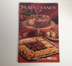 Vintage Cookbook 1967 Nestle Plain & Fancy Cook Book Cakes Desserts Baking by aroundtheclock on Etsy
