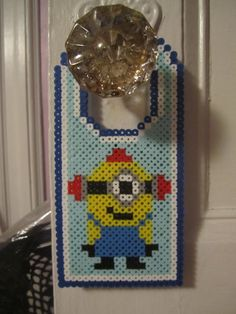 Minion Door Hanger Perler Beads by Angela Albergo