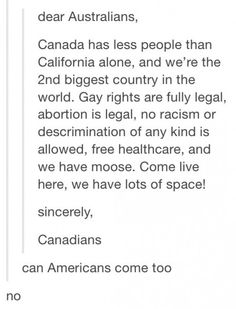 No Americans allowed!