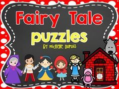 Fairy Tale puzzles - This resource includes 14 puzzles (14 X 2 = 28 pieces) that will allow your students to learn and show their knowledge about Fairy Tale Characters and Stories. They must match up the characters or prompts from each story.