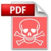 PDF malware.  Video explains how hackers can exploit Adobe Reader to install malware on computers.