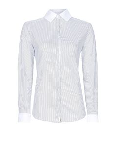MANGO - Fitted striped shirt