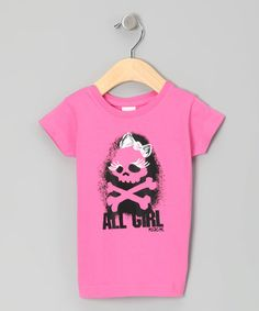 Loving this Raspberry 'All Girl' Tee - Toddler & Girls on #zulily! #zulilyfinds