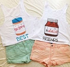 BFF Skippy and Nutella Crop Tops - Fresh-tops.com