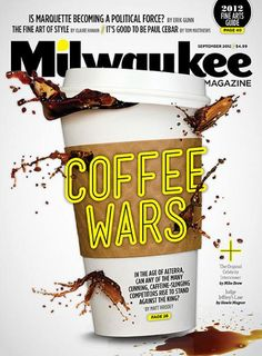 Milwaukee Mag (US) Coffee Wars conceptual magazine cover