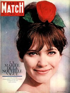 Anna Karina on the cover of Paris Match Anna Karina, French Actress, Old Actress, French New Wave, Jean Luc Godard, Paris Match, Old Hollywood Movies, French Beauty, Portraits