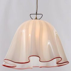 Two Kalmar Handkerchief Fazzoletto Pendant Lights, Murano Glass Chrome, 1970 8