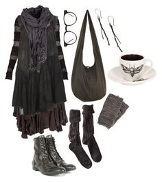 Wood witch No. 5 – wishing for winter by n-nyx on Polyvore featuring AllSaints, BCBGMAXAZRIA, Polder, Cooper by Trelise, H by Hudson, Linda Friedrich Jewelry, Pieces, Spitfire, witch and darkmori