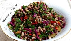 Cowpea Salad (Great) – My Delicious Food - Grillen Thyme Recipes, Soup Recipes, Salad Recipes, Dinner Recipes, Black Eyed Peas, Black Eyed Pea Salad, Soup & Co, Turkish Salad, Healthy Nutrition