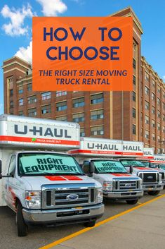 Flipping a coin helps with simple choices, but when it comes to choosing your moving truck size, make an educated decision! Moving Truck Rental, U Haul Truck, Small Colleges, Planning A Move, Moving Supplies, Moving Cross Country, Cargo Van, Cargo Trailers, Choose The Right
