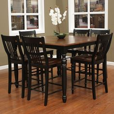 AHB Berkshire 7 Piece Counter Height Set with Homestead Stools - Dining Table Sets at Hayneedle