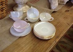 Vintage Expresso Cups and Saucers by 3birdz on Etsy
