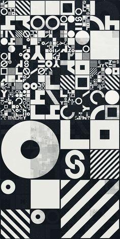 PROCEDURALS | 01 : digital art, print design, programming, generative pattern. Created in Houdini.