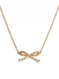 Pave Bow Pendant from BaubleBar