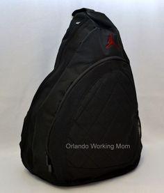 8618df49b27 Nike Jumpman 23 Sling Backpack Basketball School Gym Book Bag Air Jordan  BLK for sale online | eBay